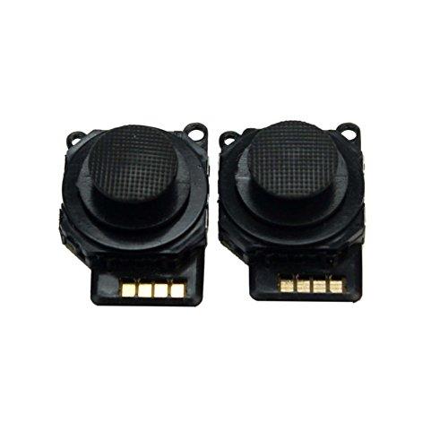 2Pcs Black Replacement Parts Joystick Button Control Thumb Stick For PSP 2000