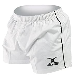 Gilbert Match Rugby Short (White, Large)