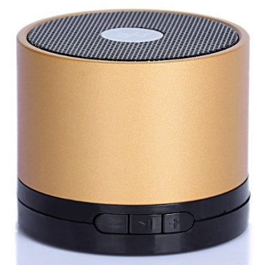 Ewa Mini Lightweight Portable Premium Sound Wireless Bluetooth Speaker With Rechargeable Battery - Older Copper, Enhanced Bass, Support Micro Sd Card, Free 3.5Mm Aux Line-In Cable