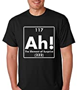 Raw T-Shirt's Ah! The Element Of Surprise Funny Chemistry Premium Men's T-Shirt
