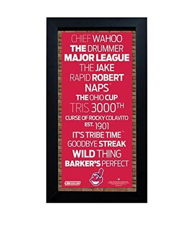 Steiner Sports Memorabilia Framed Cleveland Indians Desktop/Wall Hangable Subway Sign Wall Art