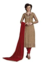 Mantra Fashion New Designer Embroidery Long A-Line Salwar Suit - B016F7ZUXI