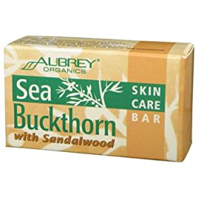Aubrey Organics - Sea Buckthorn Skin Care Bar With Sandalwood, 3.6 oz bar