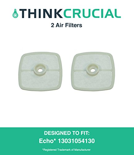 "2 High Quality Echo 13031054130, Stens 102-565 and Mantis 130310-54130 Air Filters, 2 5/8"" x 2 9/16"" x 9/16"" in. by Think Crucial"