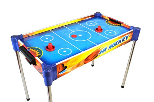 2-in-1 Table and Tabletop Air Hockey for Kids