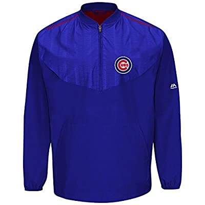 Majestic Chicago Cubs Half Zip Cool Base On-Field Training Jacket