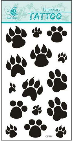 SYZ Beauty Waterproof Temporary Tattoos Bear Paw Footprint Tattoos - 1