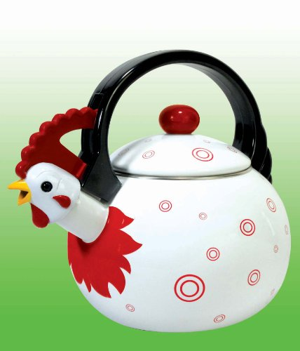 Novelty Tea Kettles ~ Unique novelty farm animals themed rooster chicken design