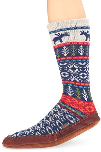 acorn-unisex-sock-slipper-maine-woods-jacquard-x-large105-115-mens-b-us