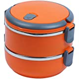 NOVICZ 2 Layer Lunch Box Hot Food Carrier - Tiffin Hot Box Vaccum Insulated With Handle