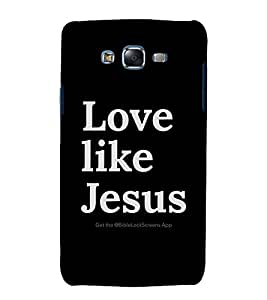 printtech Cool Quotes God Jesus Back Case Cover for Samsung Galaxy Core 2 G355H