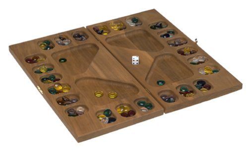 Buy Square Root Games 0021 Four-Player Mancala in Natural Finish Solid Hardwood