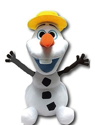 "Disney Japan. Frozen Soft Plush Smiling Olaf ""I Love Summer'. Total 14"" H (37cm) .Limited Edition.Japan Import. - 1"
