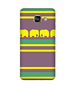 Stripes And Elephant Print (34) Samsung Galaxy A7 2016 Edition Case