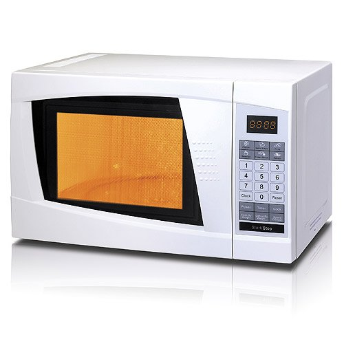 [Clearance Deal] Eascook 0.7-Cubic-Feet 700W Countertop Microwave Oven With 1-Year Manufacturer Warranty, White/Black (White)
