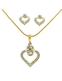 Dg Jewels 24k Gold Plated Pretty Pendant Set-CPS8148