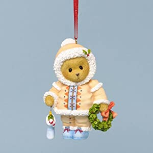Cherished Teddies Dated 2013 Holiday Ornament - Embrace the Season's Traditions