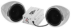 4) Boss MC400 3 1200W Motorcycle/ATV/Bike Audio Amplified Waterproof Speakers
