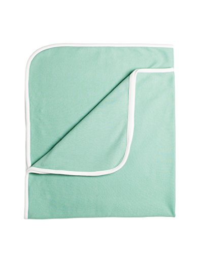 Spence Baby Organic Receiving Blanket (Seafoam Blue)