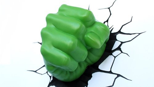 Hulk Fist 3D Deco Light - Children's Wall Lamp