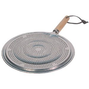 Heavy Duty Simmer Plate With Wood Handle Heat Diffuser Reducer 85 Inch by HomeNaturals