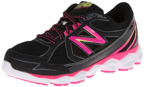 New Balance Women'S W750V3 Running Shoe,Black/Pink,8 D Us