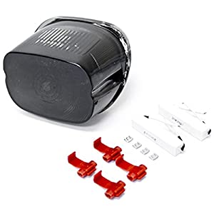 1996-2012 Harley Davidson Softail, Road King, Dyna Glide, Electra Glide, Night Train, Fat Boy, Low Rider LED TailLights Brake Tail Lights with Integrated Turn Signals Indicators Smoke Motorcycle