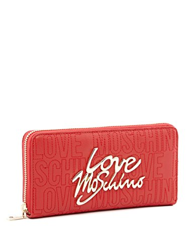 Love Moschino Woman Wallet Zip Around Claf Leather Red thumbnail