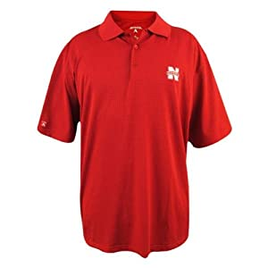 Nebraska Cornhuskers Phoenix Red Polo from Antigua by Antigua
