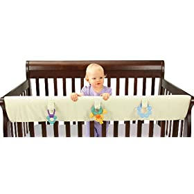 Leachco Easy Teether XL Convertible Crib Rail Cover, Ivory