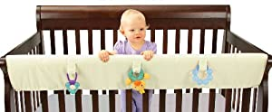 Leachco Easy Teether XL Convertible Crib Rail Cover, Ivory