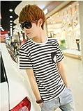 (フルールドリス)Fluer de lis スタライプ ボーダー ポケット ブラック ブルー カットソー トップス tシャツ シャツ インナー カジュアル アパレル メンズ ファッション 服 6765