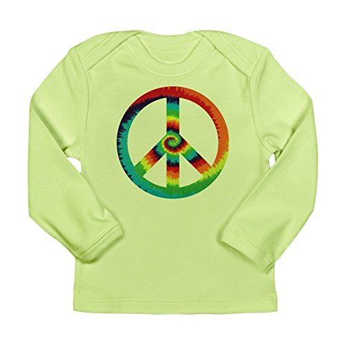 Royal Lion Long Sleeve Infant T-Shirt Tye Dye Peace Symbol - Kiwi, 0 to 3 Months (Green Tye Dye Long Sleeve Shirt compare prices)