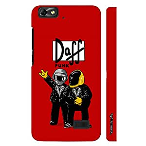 Huawei Honor 4C Daff Punk Red designer mobile hard shell case by Enthopia