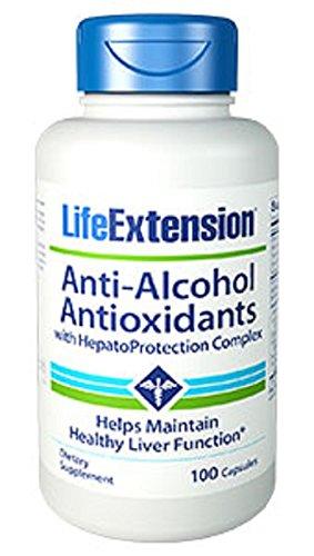 Life Extension Anti-Alcohol Antioxidant Capsules, 100-Count