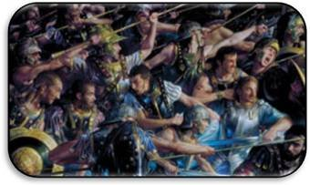 Artists of Magic Premium Playmats: FARAMIR AT OSGILIATH w/artwork by Donato Giancola