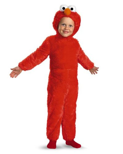 Infant Toddler Sesame Street Elmo Comfy Fur Costume Size Toddler 2T