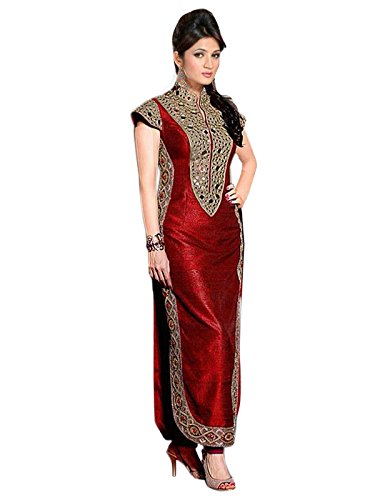 Fashion-Fiza-Womens-Silk-Semi-Stitched-Salwar-Suit-1013ARed48