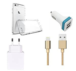 High Quality Back Cover,1.0 Amp USB Charger,Golden USB Cable,2 Jack USB Car C...
