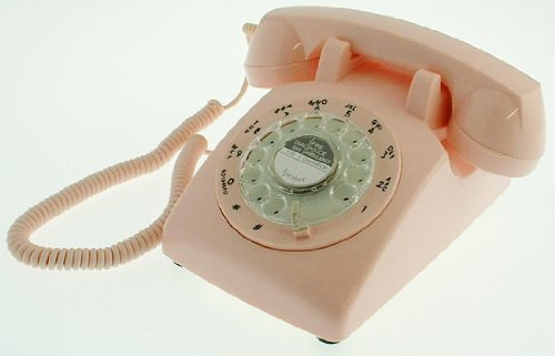 Pink Vintage Retro Old Fashioned Reproduction Telephone images