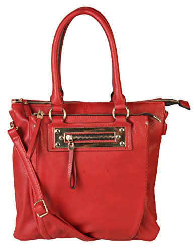 diophy-quality-pu-leather-top-handles-dual-compartments-double-zipper-large-capacity-tote-hobo-women