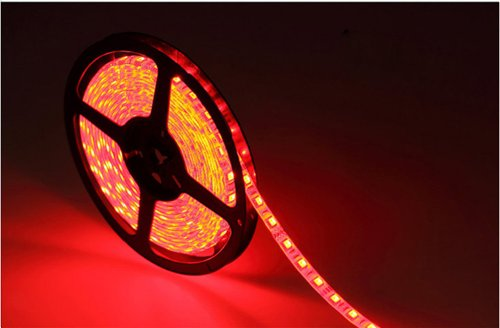 Happy Hours® Super Bright Red 1-30M 3528 Smd 120 Leds/M Led Strips Light Non-Waterproof + 12V Dc Power Adapter 7 Meters
