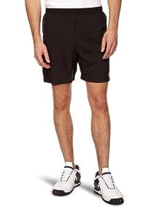 Asics Men's Running Short - Black/True Red, Small (Old Version)