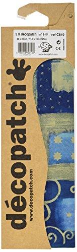 decopatch-blocco-di-3-fogli-di-finestra-modello-stellato-pasta-di-carta-blu-oro-porpora-395-x-298-mm