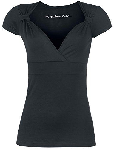 Fashion Victim Fashion V-Top Maglia donna nero XL
