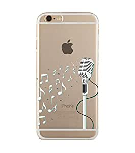 Music & Mic White Transparent Case for iPhone 6/6s