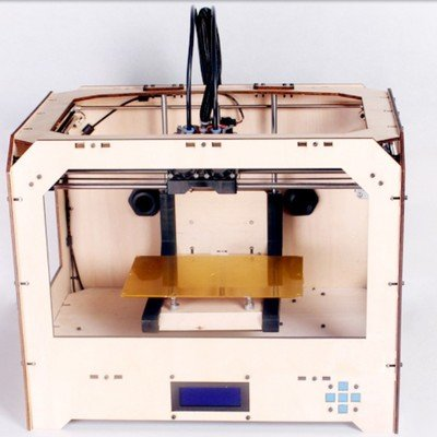 FF3D 3D Printer - Dual Heads/Extruders w/ 2 ABS rolls
