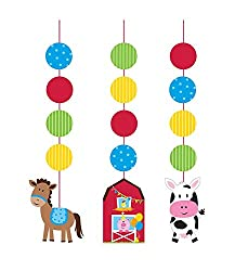 PARTY PROPZ FARMHOUSE STRING HANGING/ BARNYARD PARTY SUPPLIES SET OF 3