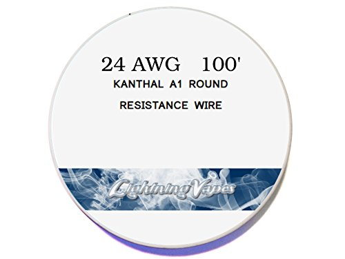 100Ft 24 Gauge Awg A-1 Kanthal Wire Spool 0.51 Mm , 2.04 Ohms/Ft Resistance