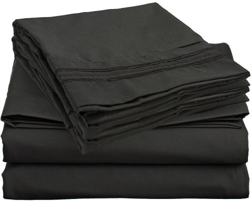 Learn More About Elegant Comfort ® 1500 Thread Count WRINKLE & FADE RESISTANT 4 pc Sheet set, D...
